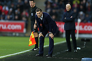 Slaven Bilic, the West Ham Utd manager looks on from the touchline. Premier league match, Swansea city v West Ham United at the Liberty Stadium in Swansea, South Wales on Boxing Day, Monday 26th December 2016.<br /> pic by  Andrew Orchard, Andrew Orchard sports photography.