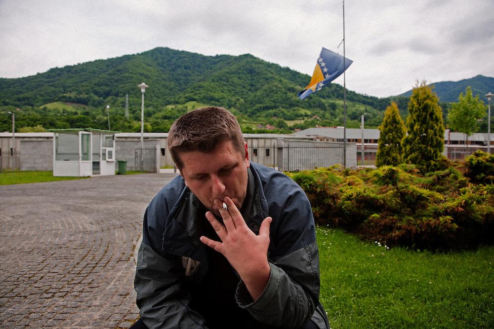 Camil Durakovic, deputy mayor of Srebrenica, at the Potocari memorial center...Matt Lutton for The International Herald Tribune..Capture of Ratko Mladic. Srebrenica, Bosnia and Herzegovina. May 29, 2011.