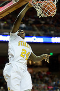 Jamar Sandifer (24) of Dallas Triple A Academy dunks the ball against Mumford during the UIL 1A division 1 state championship game at the Frank Erwin Center in Austin on Friday, March 8, 2013. (Cooper Neill/The Dallas Morning News)