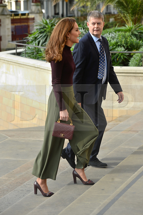 © Licensed to London News Pictures. 09/10/2019. London, UK. The DUCHESS OF CAMBRIDGE visits the Natural History Museum's Angela Marmont Centre for UK Biodiversity. Photo credit: Ray Tang/LNP