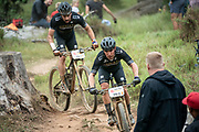 Jose HERMIDA (ESP) and Joaquim RODRIGUEZ (ESP) of team Merida Factory Racing during the Prologue of the 2019 Absa Cape Epic Mountain Bike stage race held at the University of Cape Town in Cape Town, South Africa on the 17th March 2019.<br /> <br /> Photo by Greg Beadle/Cape Epic<br /> <br /> PLEASE ENSURE THE APPROPRIATE CREDIT IS GIVEN TO THE PHOTOGRAPHER AND ABSA CAPE EPIC