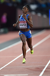 August 8, 2017 - London, England, United Kingdom - Gloria HOOPER of Italy during 200 meter  heats in London at the 2017 IAAF World Championships athletics on August 8, 2017. (Credit Image: © Ulrik Pedersen/NurPhoto via ZUMA Press)
