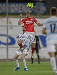 Emil Holten (Silkeborg IF) under kampen i 1. Division mellem FC Helsingør og Silkeborg IF den 11. september 2020 på Helsingør Stadion (Foto: Claus Birch).
