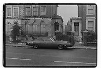 A Plymouth car in South East London, 1982. South-East London, 1982