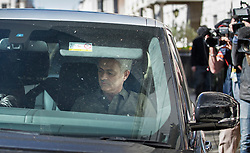 © Licensed to London News Pictures. 24/05/2016. London, UK. Jose Mourinho is driven from his home. Mourinho is expected to be named as Manchester United manager in the next few days. Photo credit: Peter Macdiarmid/LNP