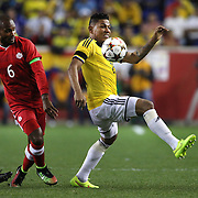 Alexander Mejia, Colombia, in action during the Columbia Vs Canada friendly international football match at Red Bull Arena, Harrison, New Jersey. USA. 14th October 2014. Photo Tim Clayton