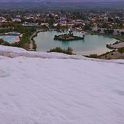 View Down The Hill From Pamukkale