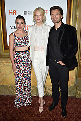 Tatiana Maslany, Nicole Kidman and Sebastian Stan attend the Destroyer screening held at the Winter Garden Theatre during the Toronto International Film Festival in Toronto, Canada on September 10th, 2018. Photo by Lionel Hahn/ABACAPRESS.com
