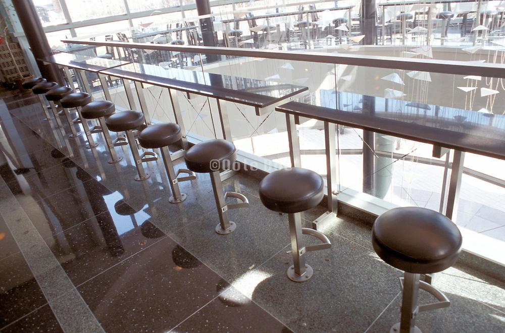 Modern seats in a row