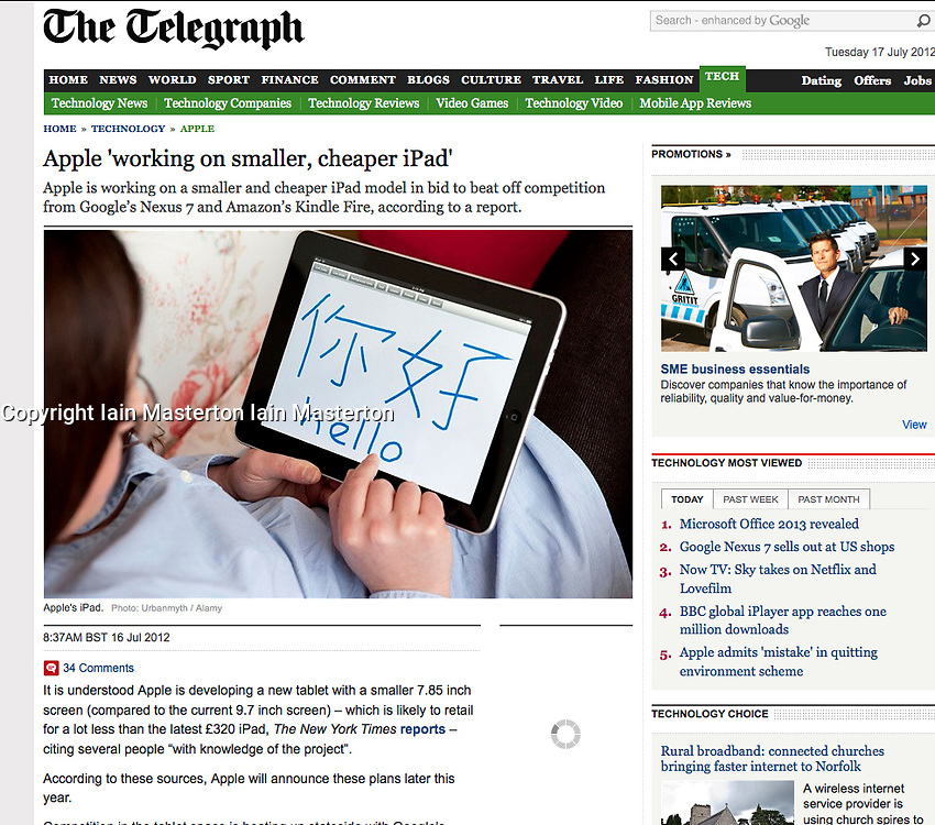 The Telegraph; Using iPad to learn Chinese