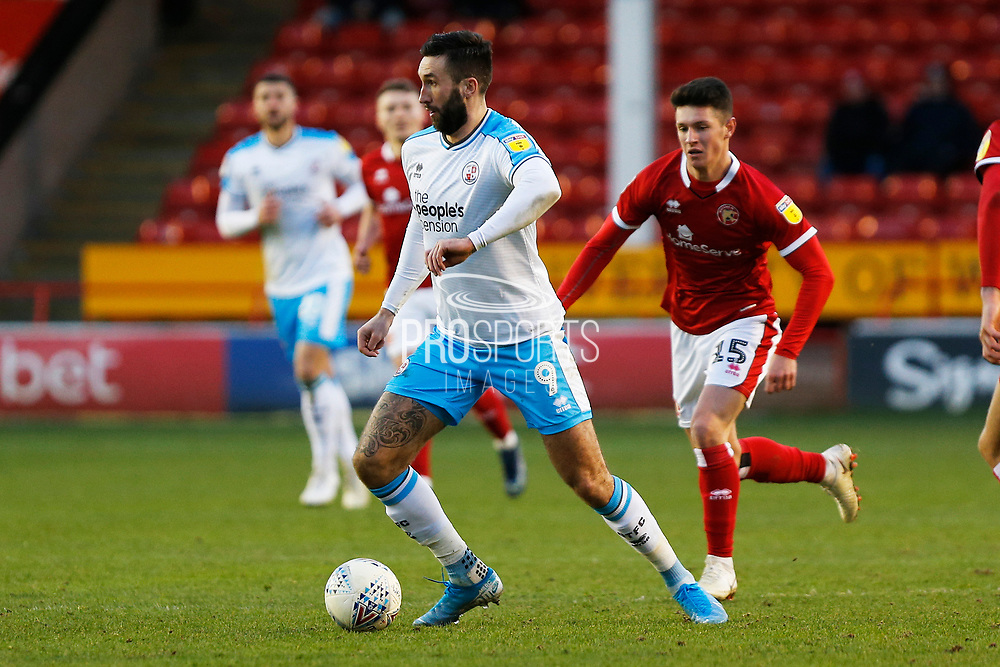 Ollie Palmer on the ball during the EFL Sky Bet League 2 match between Walsall and Crawley Town at the Banks's Stadium, Walsall, England on 18 January 2020.