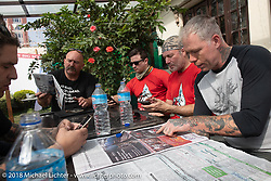 Lunch stop on day-10 of our Himalayan Heroes adventure  riding from Nuwakot back to Kathmandu, Nepal. Thursday, November 15, 2018. Photography ©2018 Michael Lichter.