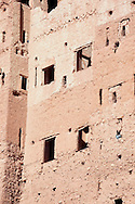 Detail of the facade of Kasbah Tamdaght.