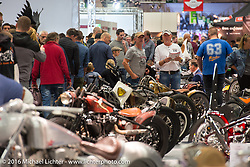 AMD World Championship of Custom Bike Building show in the custom dedicated Hall 10 at the Intermot Motorcycle Trade Fair. Cologne, Germany. Saturday October 8, 2016. Photography ©2016 Michael Lichter.