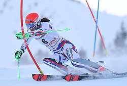 28.01.2018, Lenzerheide, SUI, FIS Weltcup Ski Alpin, Lenzerheide, Slalom, Damen, 1. Lauf, im Bild Petra Vlhova (SVK) // Petra Vlhova of Slovakia in action during her 1st run of ladie's Slalom of FIS ski alpine world cup in Lenzerheide, Austria on 2018/01/28. EXPA Pictures © 2018, PhotoCredit: EXPA/ Sammy Minkoff<br /> <br /> *****ATTENTION - OUT of GER*****