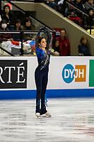 KELOWNA, BC - OCTOBER 25:  Russian figure skater Evgenia Medvedeva competes at Skate Canada International in the ladies short program at Prospera Place on October 25, 2019 in Kelowna, Canada. (Photo by Marissa Baecker/Shoot the Breeze)