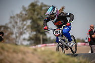 #104 (LLAPUR Mariana Nerea) ARG during practice at Round 9 of the 2019 UCI BMX Supercross World Cup in Santiago del Estero, Argentina