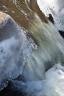 Ice coats the fish ladder at the Stony Brook Herring run in Breewster.