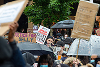 Black Lives Matter Peaceful Protest,Godiva Square Coventry Photo by mark anton smith