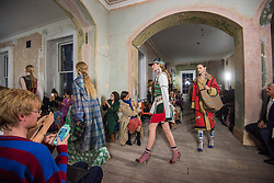 Models on the catwalk during the Burberry London Fashion Week SS18 show held at the Old Sessions House, London. Picture date: Saturday September 16th, 2017. Photo credit should read: Matt Crossick/ EMPICS Entertainment.