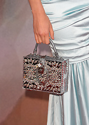 The handbag of Pixie Lott at The Fashion Awards 2016 at the Royal Albert Hall, London. PRESS ASSOCIATION Photo. Picture date: Monday 5th December, 2016. Photo credit should read: Matt Crossick/PA Wire.