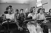 Integrated classroom at Anacostia High School, Washington, D.C., USA. 10 September 1957. Photographer:  Warren K  Leffler.