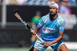 Mandeep Singh of India during the Champions Trophy finale between the Australia and India on the fields of BH&BC Breda on Juli 1, 2018 in Breda, the Netherlands.