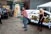 The Spanking Post, where people can come to be spanked by the slightly fetish slanted performers. It is all in the best sense of fun and theatre. The Art Car Boot Fair in a car park just off Brick Lane in East London. This is an alternative art event where artists show their works and engage with the public. The Art Car Boot Fair was an idea that grew out of a desire to re-introduce some summer fun and frivolity into a thriving but increasingly commercial London art scene. The aim for the Art Car Boot Fair is to be a day when the artists let their hair down and for all-comers to engage with art in a totally informal way, and to pick up some real art bargains.