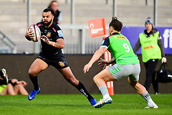 Tom O'Flaherty of Exeter Braves is marked by Niall Saunders  - Mandatory by-line: Ryan Hiscott/JMP - 01/04/2019 - RUGBY - Sandy Park Stadium - Exeter, England - Exeter Braves v Harlequins - Premiership Rugby Shield