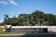 USS Oklahoma Memorial, Ford Island, Pearl Harbor, Oahu, Hawaii