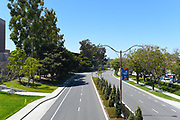 Campus Drive Looking West Seen From Watson Bridge at the University of California Irvine