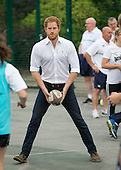 Prince Harry rugby coaching