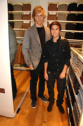 Left to right, brothers Actor ALEX PETTYFER and JAMES PETTYFER at a party to celebrate the opening of the new Uniqlo store at 331 Oxford Street, London W1 on 6th November 2007.<br /><br />NON EXCLUSIVE - WORLD RIGHTS