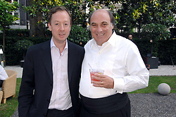 Left to right, GEORDIE GRIEG and ARNAUD MARTIN at a party to celebrate Le Touessrok a luxury resort in Mauritius, held at The Hempel, 31-35 Craven Hill Gardens, London W2 on 12th June 2007.<br />