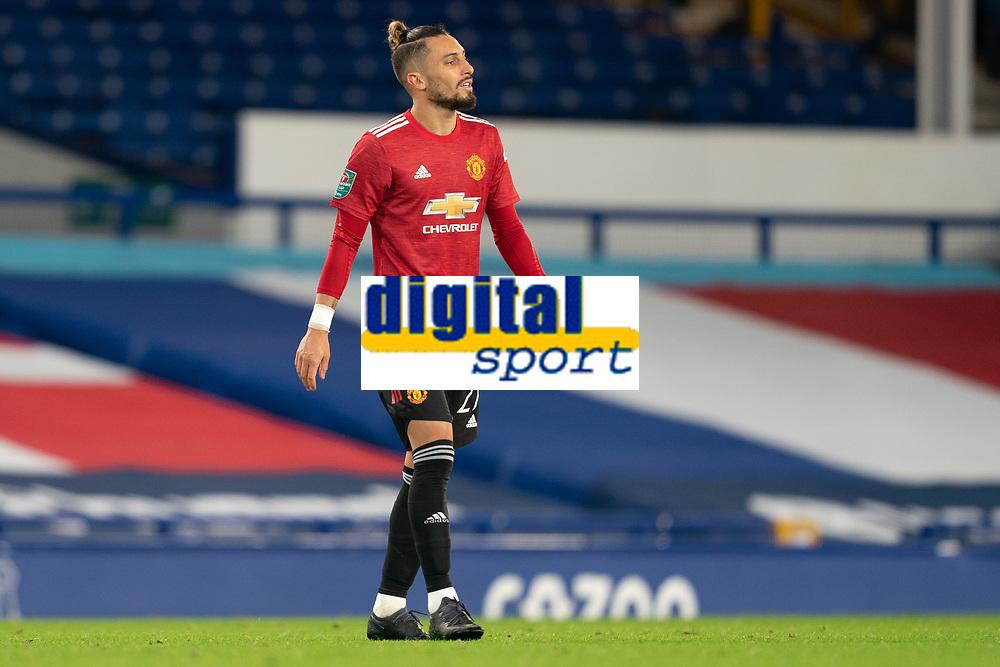 Football - 2020 / 2021 League Cup - Quarter-Final - Everton vs Manchester United - Goodison Park<br /> <br /> Manchester United's Alex Telles<br /> <br /> <br /> COLORSPORT/TERRY DONNELLY