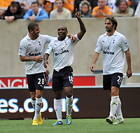 Wolverhampton Wanderers/Tottenham Hotspur Premier League 10.09.11<br />Photo: Tim Parker Fotosports International<br />Jermain Defoe Spurs celebrates 2nd goal with team mates