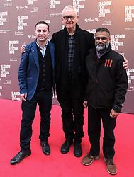 "Glasgow Film Festival, Sunday 3rd March 2019<br /> <br /> UK Premiere of ""Do No Harm (Eminent Monsters)""<br /> <br /> Pictured: Stephen Bennett (Director), John Archer (Producer) and Moazzam Begg (Contributer)<br /> <br /> Alex Todd   Edinburgh Elite media"