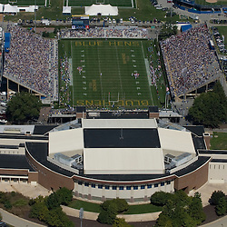 Aerial views Blue Hen Stadium and Bob Carpenter Center, Newark, Delaware