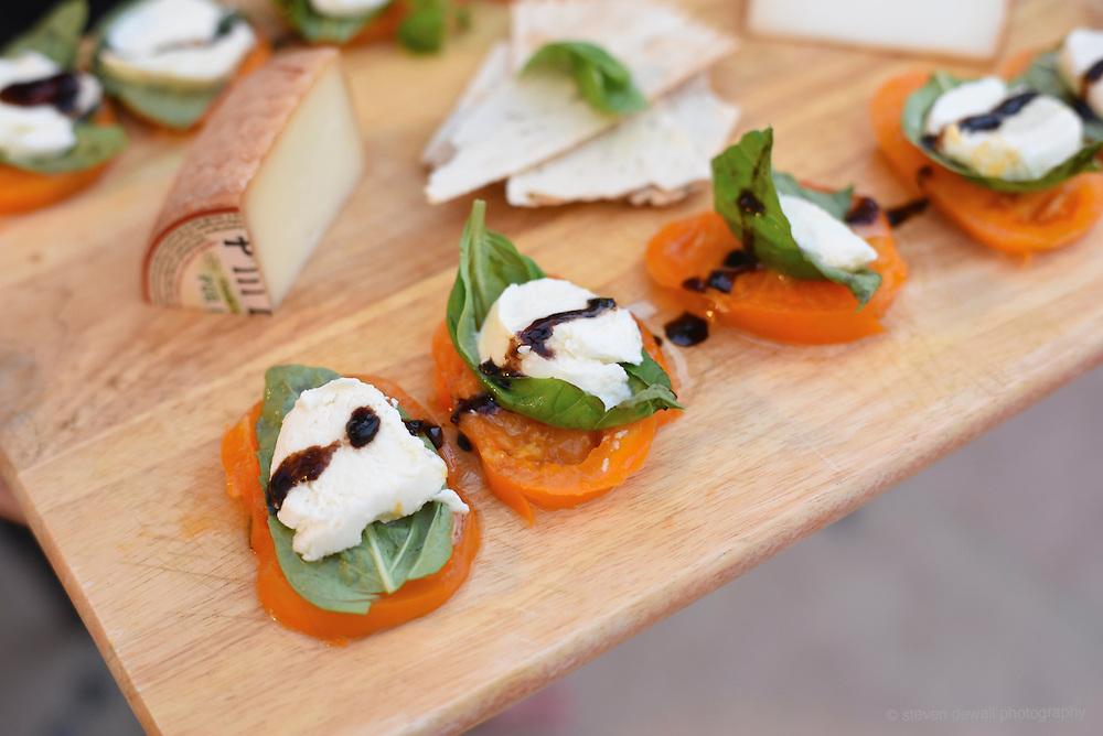 Tomato and mozzarella caprese.
