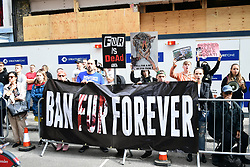 Activists calling for a ban on the use of animal fur outside the Victoria Beckham London Fashion Week SS19 show in Dover Street, London.