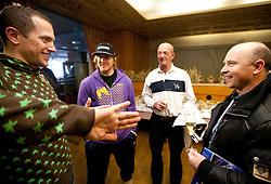 Jure Kosir (SLO), Ted Ligety (USA), Claude Perrot (FRA) and Sergio Bergamelli (ITA) at meeting of former Alpine Ski racers named as Vitranc Legends - Winners of Vitranc Cup  at FIS Ski World Cup Alpine Kranjska Gora, on March 5, 2011 in Kranjska Gora, Slovenia.  (Photo By Vid Ponikvar / Sportida.com)