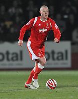 Josh Low of Cheltenham Town <br /> Cheltenham Town vs Tranmere Rovers<br /> Coca-Cola League One, Whaddon Road, Cheltenham<br /> 17/03/2009. Credit Colorsport/Dan Rowley