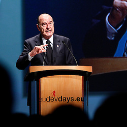 20101207 - Brussels , Belgium - European Development Days - Special Address H.E. Jacques Chirac , France former president © European Union - Scorpix