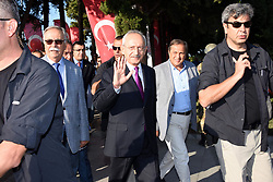 August 26, 2017 - ‡Anakkale, Türkiye - Turkey's main opposition party leader Kemal Kilicdaroglu begins hosting a four day ''justice congress'' in a bid to keep up the momentum from the success of a month-long foot march protesting against alleged injustices under President Recep Tayyip Erdogan. (Credit Image: © Depo Photos via ZUMA Wire)