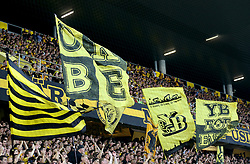 BSC Young Boys fans show their support in the stands during the game