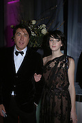 Bryan Ferry and Katie Turner. The Black and White Winter Ball. Old Billingsgate. London. 8 February 2006. -DO NOT ARCHIVE-© Copyright Photograph by Dafydd Jones 66 Stockwell Park Rd. London SW9 0DA Tel 020 7733 0108 www.dafjones.com