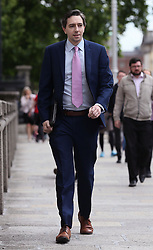 Minister for Health Simon Harris arrives at Government Buildings, Dublin, on what is outgoing Taoiseach Enda Kenny's final day.