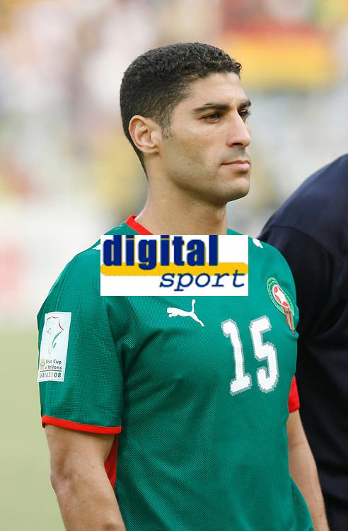 Photo: Steve Bond/Richard Lane Photography.<br /> Ghana v Morocco. Africa Cup of Nations. 28/01/2008. Youssef Safri of Morocco & Southampton