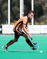 ROTTERDAM -  Jair van der Horst (Oranje-Rood)  tijdens de wedstrijd om de derde plaats , Kampong- Oranje Rood , bij de ABN AMRO cup. COPYRIGHT KOEN SUYK