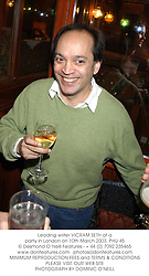 Leading writer VICRAM SETH at a party in London on 10th March 2003.PHU 45